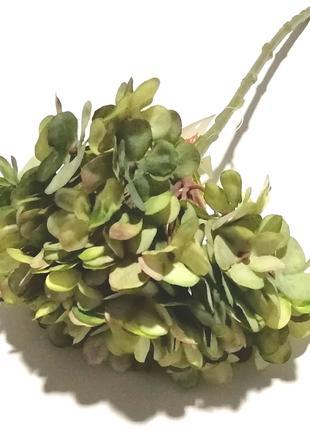 Гортензия искусственная 34 см, Зеленый Прованс