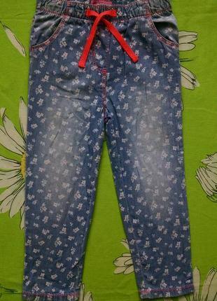 Стильные джинсы для девочки 3-4 года