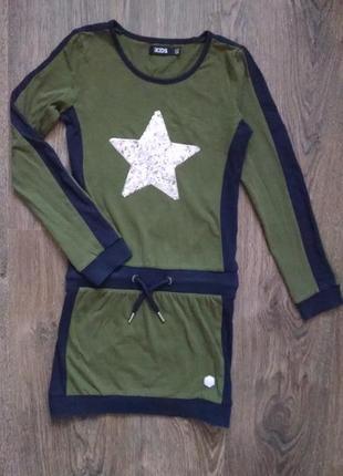 Стильное платье,туника с звездой для девочки 7-8 лет