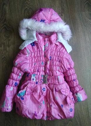 Зимняя куртка для девочки 3-5 лет.