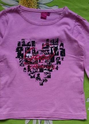Розовый гольф c сердцем для девочки 2-3 года