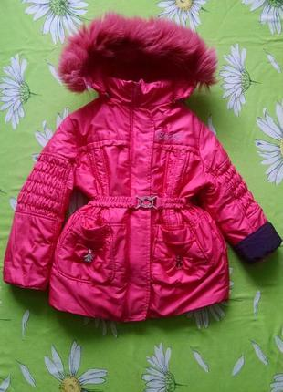 Зимняя-осенняя куртка для девочки 5-6 лет