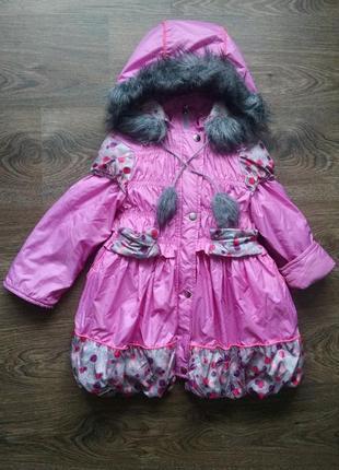 Зимняя куртка для девочки 3-4 года