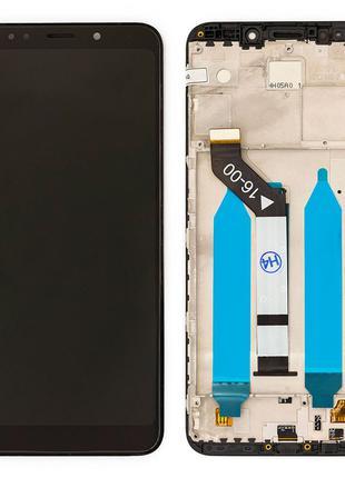 Дисплей Xiaomi Redmi 5 Plus с тачскрином (Black) в рамке