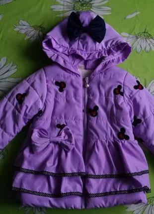 Красивая,теплая демисезонная куртка для девочки 3-4 года