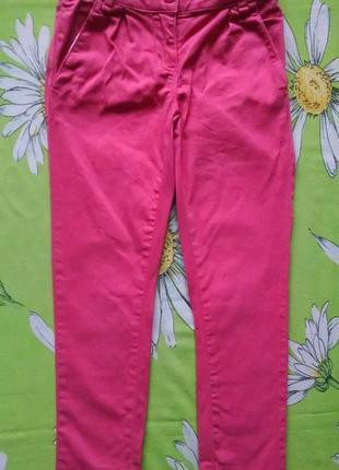 Стильные розовые брюки для девочки 5-6 лет