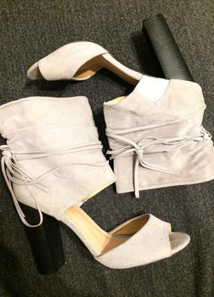 M замшевые сандали босоножки 24-24.5 см