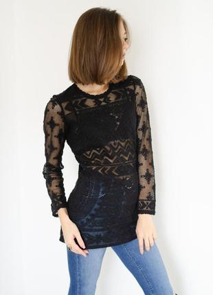 Isabel marant & h&m брендовая кружевная блуза, хлопковая туник...