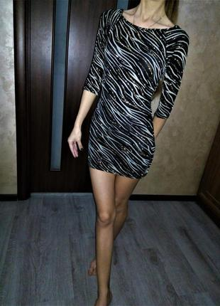 Вечерние блестящие платье люрекс-глитер-золото с красивой спин...