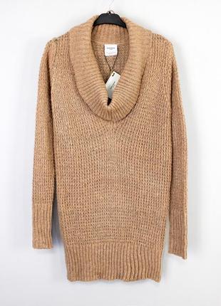 Вязаное качественное теплое мягкое обьемное повседневное плать...