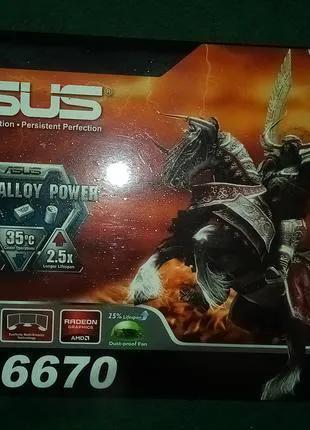 Видеокарта ASUS 1 GB GDDR5 RADEON grafics HD 6670