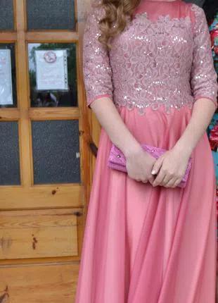 Платье вечернее выпускное с-м
