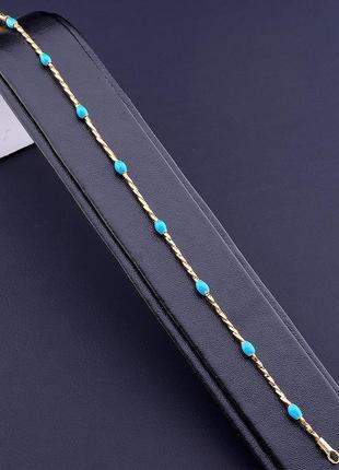 Браслет 'xuping' эмаль 18 см. (позолота 18к)