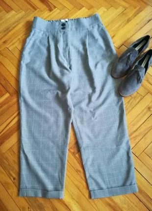 Стильные модные широкие брюки с завышеной талией манго