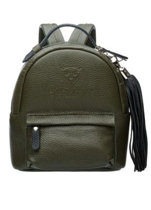 Маленький кожаный женский рюкзак gato negro exclusive зеленый ...