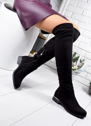 Распродажа ❤ женские черные осенние деми высокие сапоги  ботил...