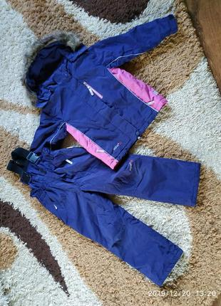 Зимний теплый фирменный термо костюм на 6-7 лет
