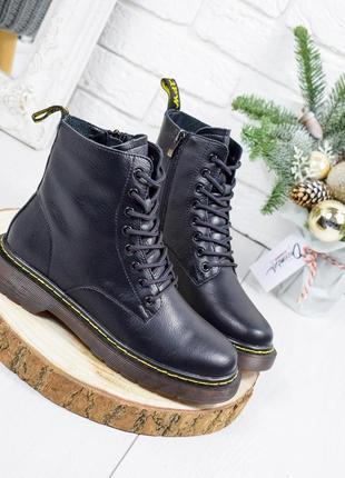 ❤ женские черные кожаные ботинки сапоги полусапожки ботильоны ...