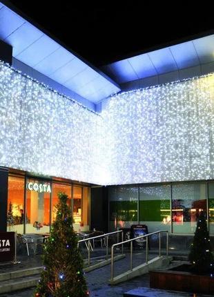 Гирлянда ШТОРА LED статика Холодный белый свет, разные размеры