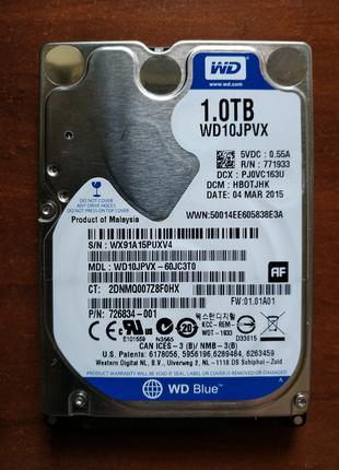 2.5 HDD 1000GB WD Blue новый