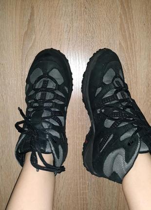 Шикарные кожаные трекинговые ботинки ecco
