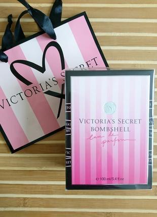Bombshell духи 100 мл victoria secret в подарочной упаковке
