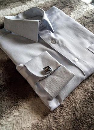 Мужская классическая рубашка под запонки bonjolly, xxl