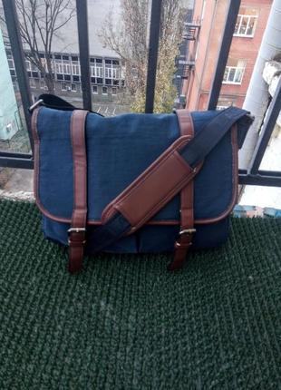 Мужская сумка lasocki casual for men, темно - синий