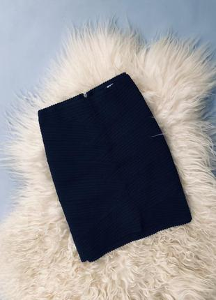 Бандажная чёрная юбка h&m