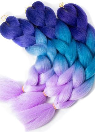 Канекалон коса омбре цветные пряди каникалон волос на заколках...