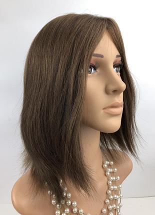 Натуральный русый парик кошерный из европейских волос с шёлков...