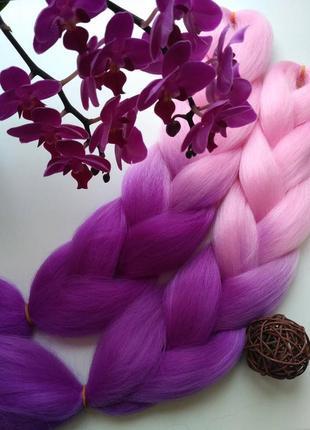 Канекалон коса омбре фиолет цветные пряди конекалон каникалон ...