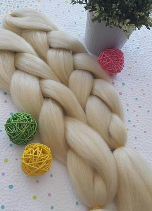 Канекалон БЛОНД, пшеничный, блондинка для косичек в причёску, ...