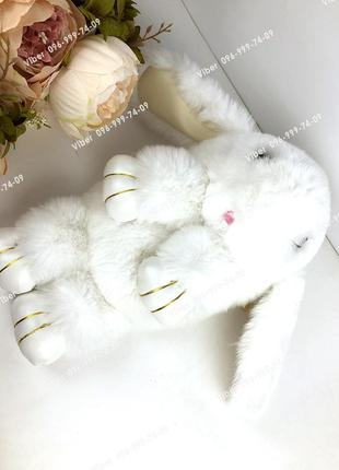 Сумка рюкзак кролик меховой белый, из искусственного меха как ...