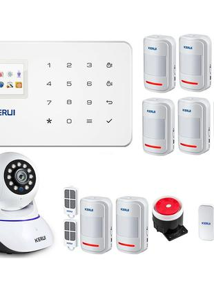 Комплект GSM сигнализации Kerui G18 max + WI-Fi IP камера