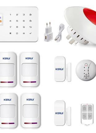 GSM сигнализация Kerui G18 для квартиры с беспроводной сиреной