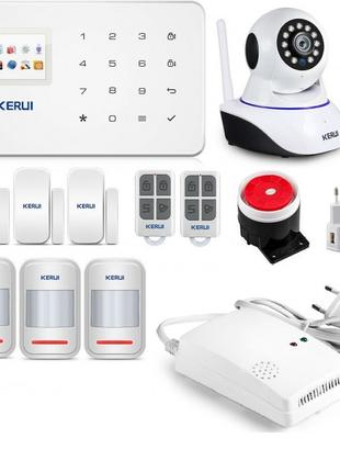Беспроводная GSM сигнализация Kerui G18 + WI-FI IP камера для ...