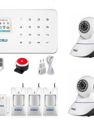 Сигнализация Kerui W18 DUOS complect с видеонаблюдением