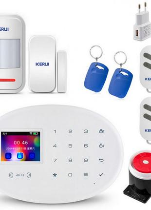 Комплект GSM сигнализации Kerui alarm W20 Start с Wi-Fi