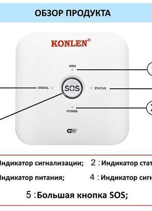 GSM WiFi сигнализация Konlen TUYA MAXI + WiFi 1080p