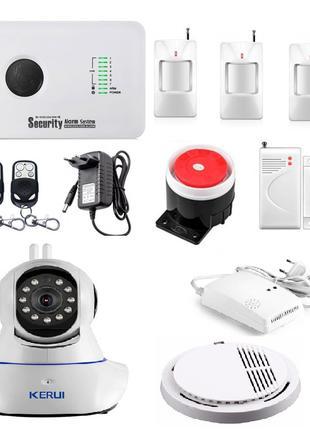 Комплект сигнализации GSM Alarm System G10C+ WI-FI IP камера д...