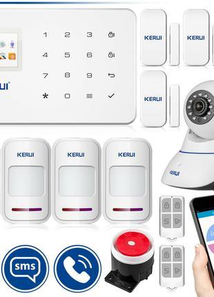 Комплект беспроводной GSM сигнализации Kerui G18 plus + WI- FI...