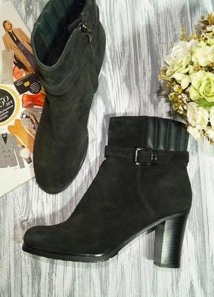 🌿40🌿geox. замша. классные ботинки на устойчивом каблуке