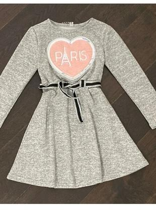 Нарядное ангоровое платье Paris для модниц р.134-158 полномерное!