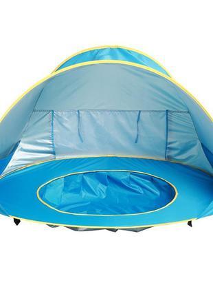 Детская пляжная палатка с бассейном складная автоматическая, и...