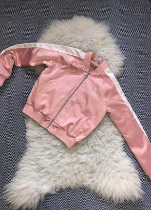 Атласный сатиновый бомбер puma оригинал кофта куртка ветровка