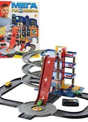 Детский игровой гараж мега парковка 922-7 4 этажа 4 машинки