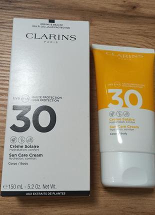 Clarinssun care cream крем для загара для тела spf 30
