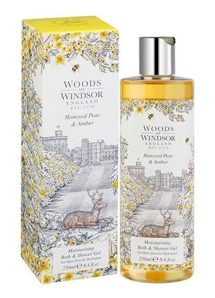 Woods of windsor гель для душа honeyed pear & amber