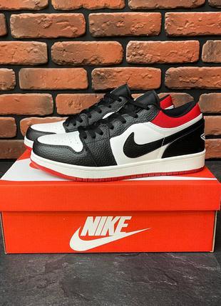 Nike Air Jordan Low Black/Red Кроссовки Летние Мужские Кроссовки